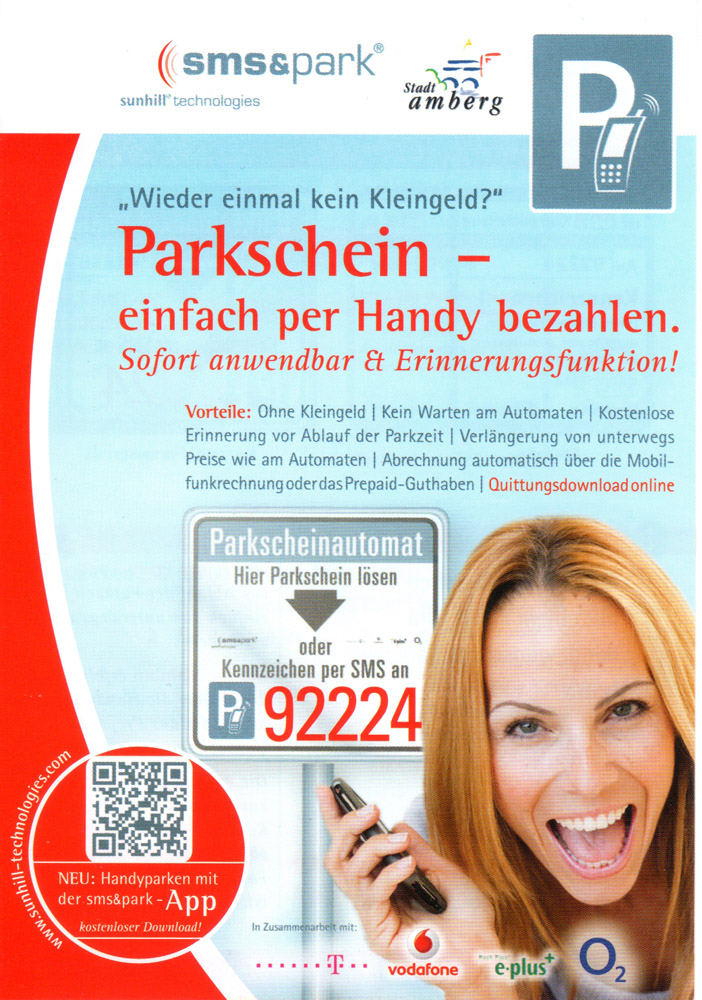 parktickets parkschein mit sms einl sen lifestyle. Black Bedroom Furniture Sets. Home Design Ideas