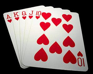 Pokerblatt Straight Flush