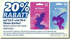 itunes Karten-Rabatt bei Real